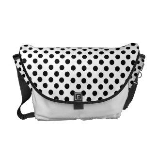 Black Polka Dot: Messenger Bag
