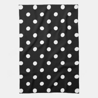 Black Polka Dot Tea Towel