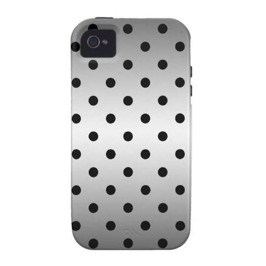 black polka dots Case-Mate iPhone 4 covers