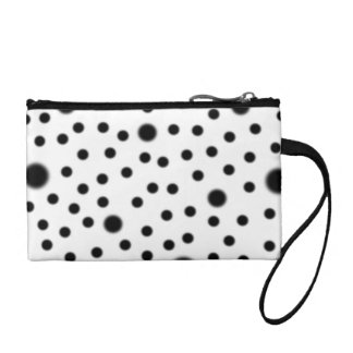 Black Polka Dots Coin Purse