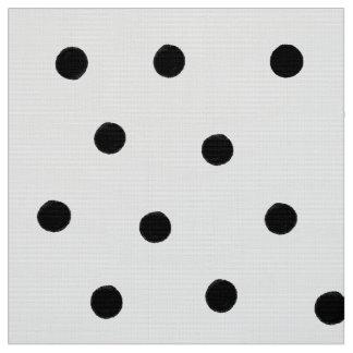 Black Polka Dots Fabric