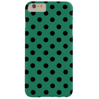 Black polka dots in green barely there iPhone 6 plus case