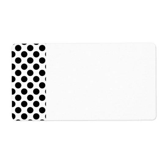 Black Polka Dots Label Shipping Label