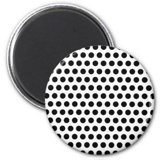 Black Polka Dots Magnet