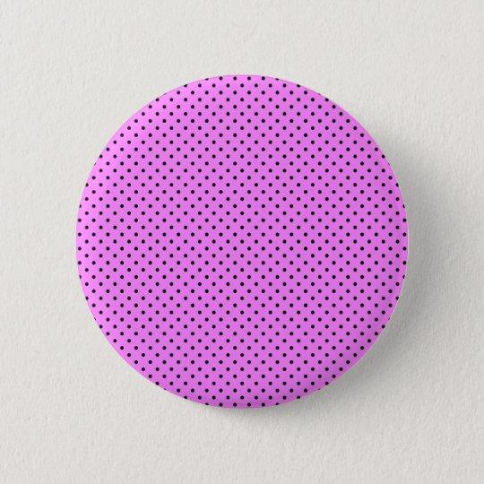 Black Polka Dots On Bubblegum Pink Background 6 Cm Round Badge