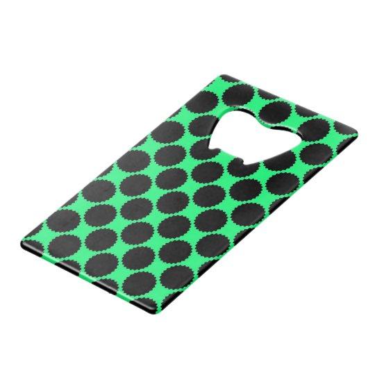 Black Polka Dots On Kiwi Green