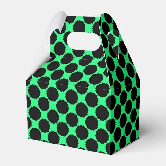 Black Polka Dots On Kiwi Green Favour Box