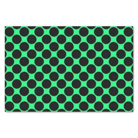 Black Polka Dots On Kiwi Green Tissue Paper