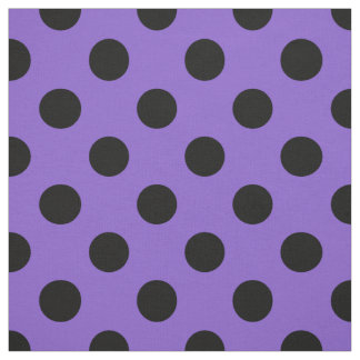 Black polka dots on lavender fabric