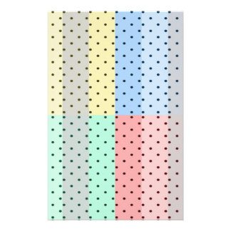 Black Polka Dots On Multicolored Background Design Personalized Flyer