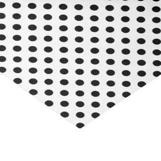 Black Polka Dots on White Background Tissue Paper