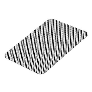 Black Polka Dots on White Rectangular Photo Magnet