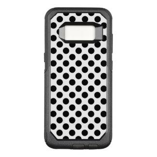 Black Polka Dots OtterBox Commuter Samsung Galaxy S8 Case