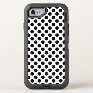 Black Polka Dots OtterBox Defender iPhone 7 Case