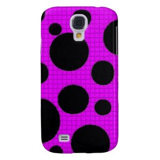 Black Polka Dots - Phone 3g Cases Samsung Galaxy S4 Cover