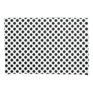 Black Polka Dots Pillowcase