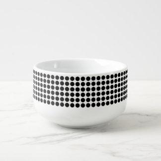 Black Polka Dots Soup Mug