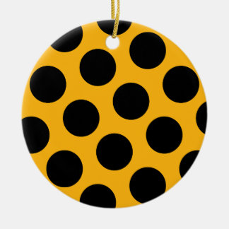 Black Polka Dotted Ornament