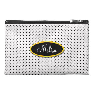 Black Polka Dotty Monogram Travel Bagettes Bags Travel Accessories Bag