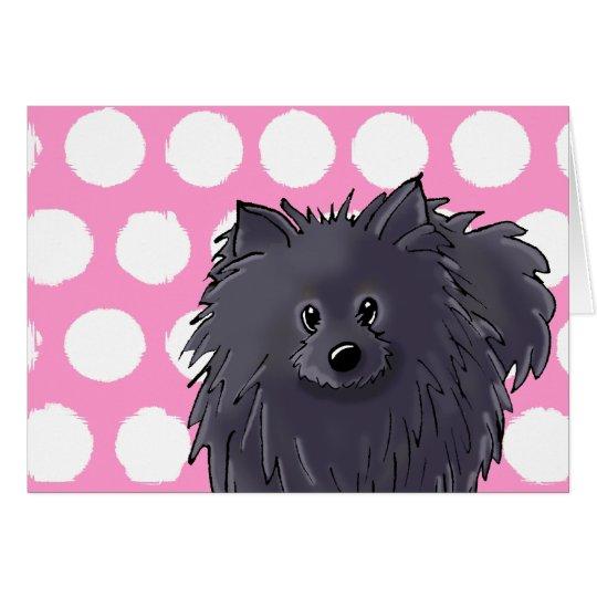 Black Pom Card