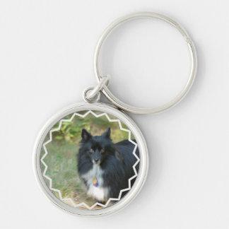 Black Pomeranian  Keychain