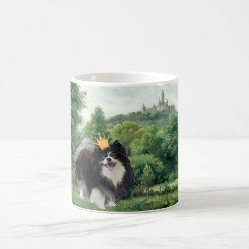 Black Pomeranian Prince Coffee Mugs