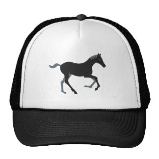 Black pony cap
