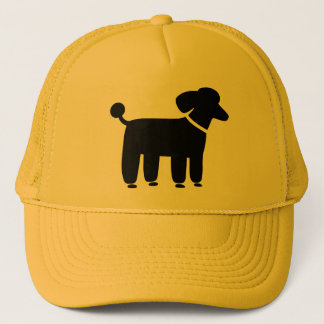 Black Poodle Dog Graphic Trucker Hat