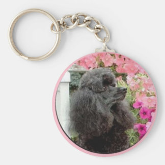 Black Poodle Key Chain