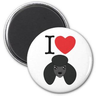 Black Poodle Magnet