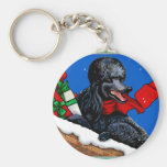 Black Poodle n Packages Christmas Holiday Art