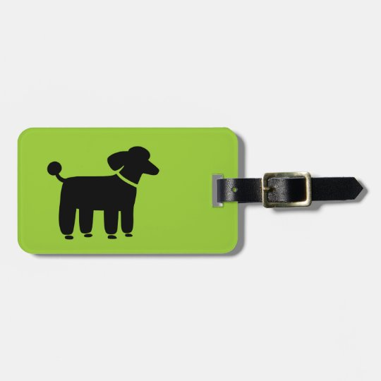 Black Poodle on Green (Colour is Customisable) Luggage