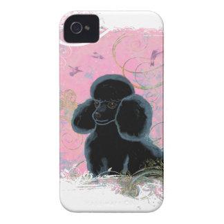 Black Poodle Portrait Painting iPhone 4 Cases