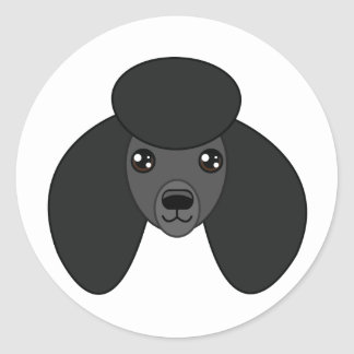 Black Poodle Stickers
