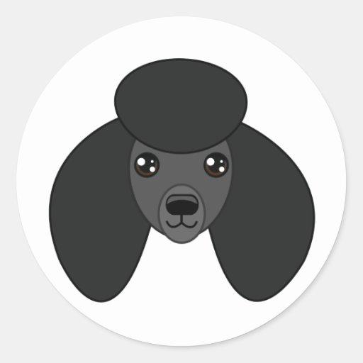 Black Poodle Stickers