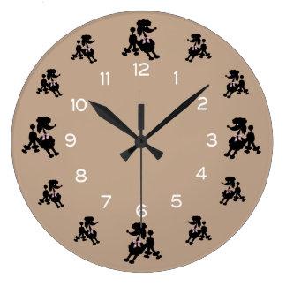 Poodle Wall Clocks Zazzle Co Uk