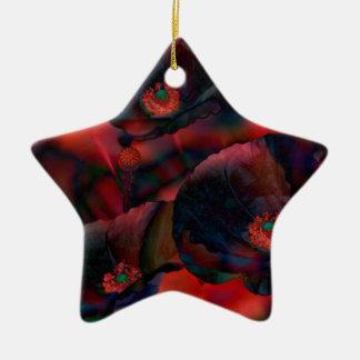 Black Poppies Christmas Ornament