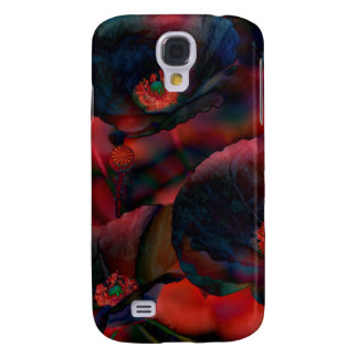 Black Poppies Galaxy S4 Case