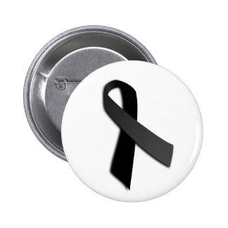 Black POW MIA Rememrance Awareness Ribbon Button