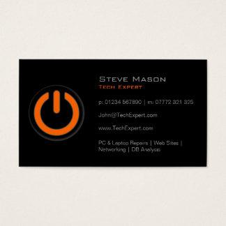 Black Power Button, Technology - Business Card