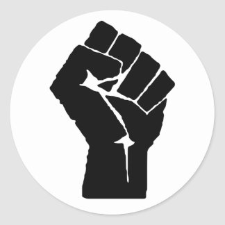Black Power Fist Sticker