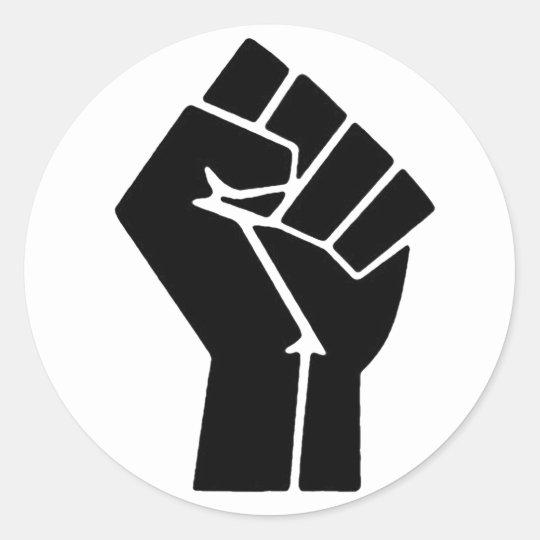 Black Power Fist Stickers