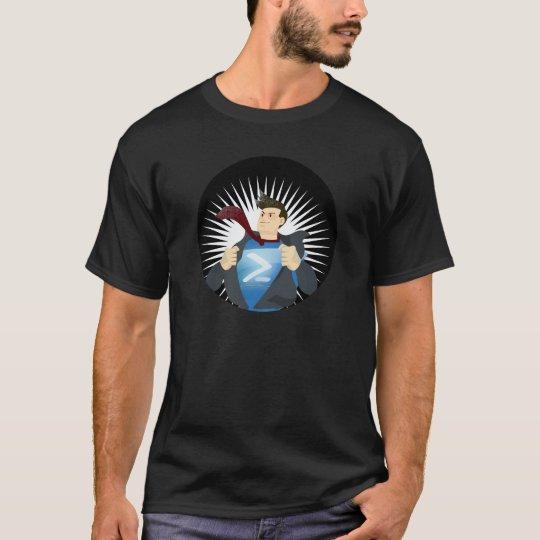 Black PowerShell SuperHero T-Shirt