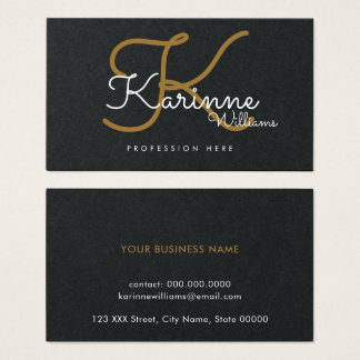 black premium pro contact-card / original monogram business card