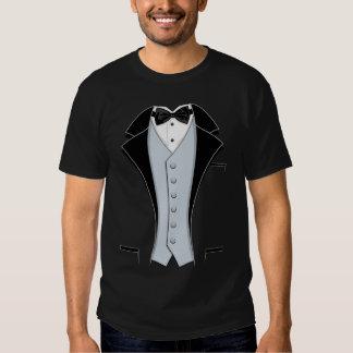 Black Print Tuxedo T-shirts