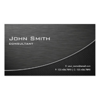 Black Professional Elegant Modern Plain Metal Pack Of Standard Business Cards