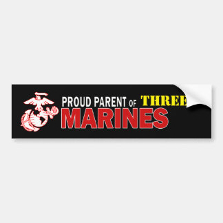 Black Proud Parent Multiple Marines Bumper Sticker