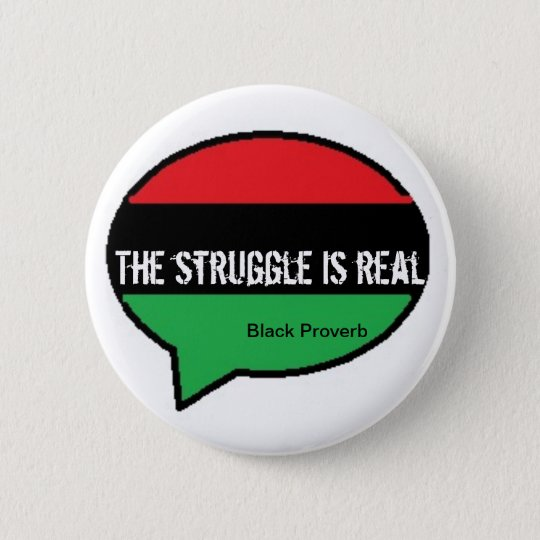 Black Proverb Button