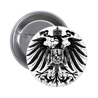 Black Prussian Eagle 6 Cm Round Badge