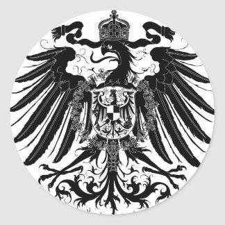 Black Prussian Eagle Classic Round Sticker